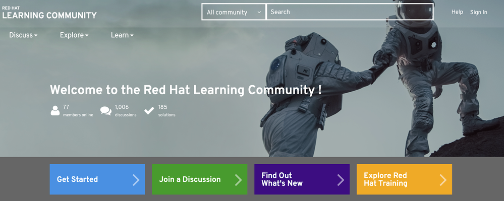 Red Hat Learning Community main navigation.png