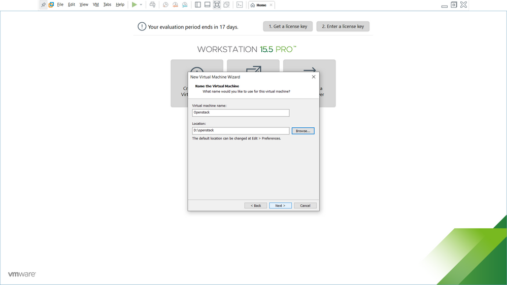 VM Creation  - Step 4 (Choose the Destination Folder  for Virtual Disk  of  VM)