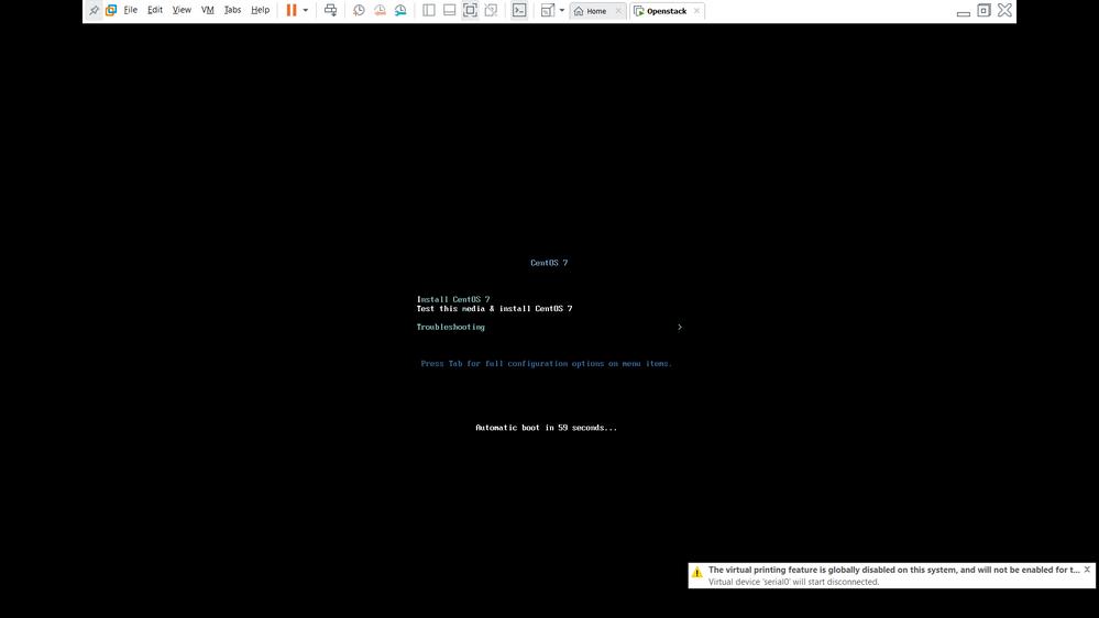 install Centos - Step 1 ( Choose Install Centos 7)