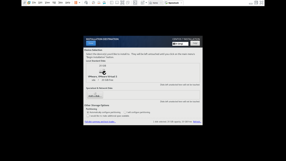 install Centos  - Step 5 ( Choose Automatically configure partitioning)