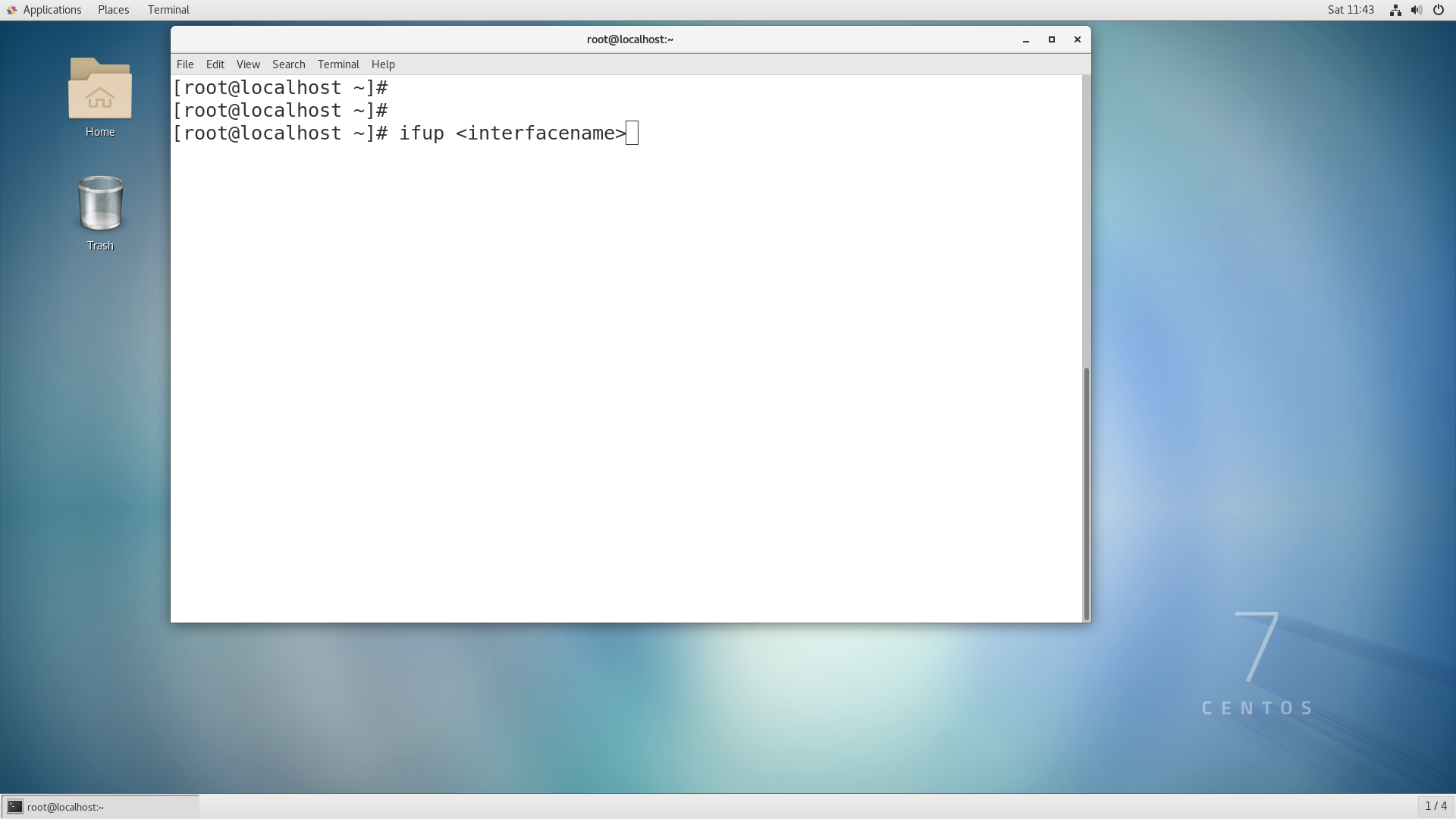 installing Openstack - Step 2 ( If  you cant access internet try to ifup the interface to get IP through NAT)