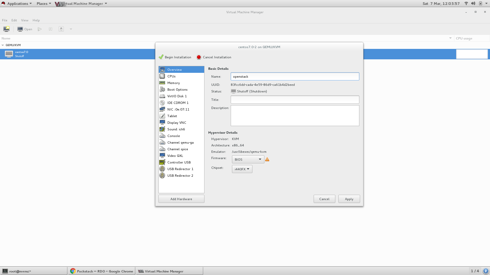 Creating VM in Virt-Manager - Step 7 ( Provide name to your virtual machine)
