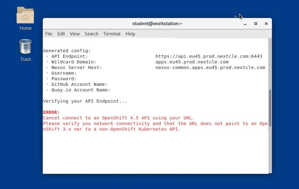 OpenShift 4_5 API connection error during lab-configure.jpg