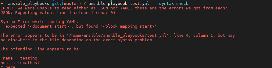 I have change the second example give a little indent.Now it is not consider as a valid json or yaml.